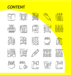 Content hand drawn icon pack for designers and vector