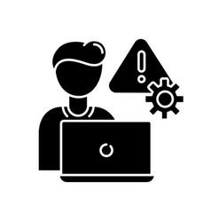 crisis management black glyph icon vector image