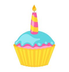 cupcake food item for bars vector image