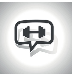 Curved barbell message icon vector