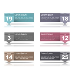 Design Elements with Dates vector
