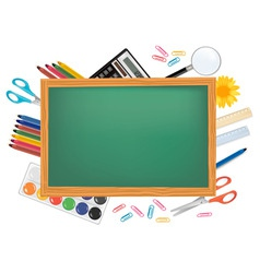 desing back to school with green desk vector image