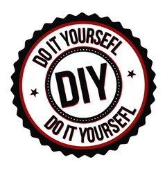 do it yourself label or sticker vector image