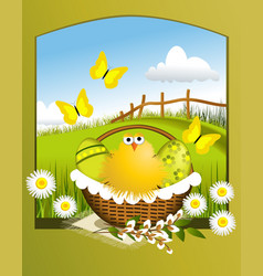 Easter chicken vector