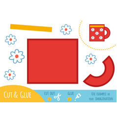 education paper game for children cup vector image