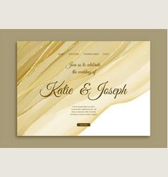 elegant gold wedding landing page vector image