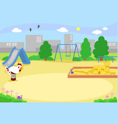empty urban playground vector image