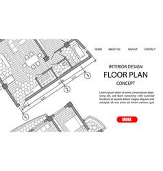 floor plan a modern apartment vector image
