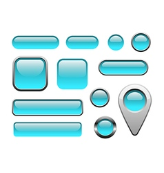 Glossy and metallic web buttons for internet vector image