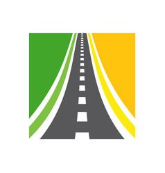 Highway logo combination roadway vector
