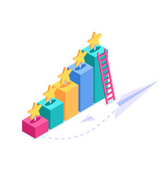 isometric review concept a visual display a vector image