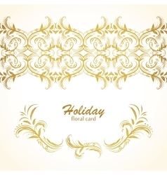 Lace decor for birthday and greeting card vector