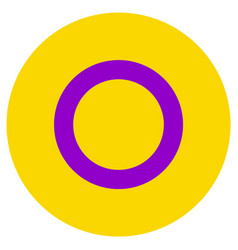 Lgbt flag round shape icon on white background vector