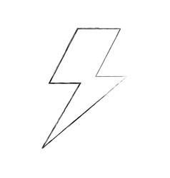 lightning bolt weather storm energy vector image