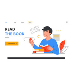 literature fan with books vector image