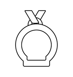Medal winner award premium line vector