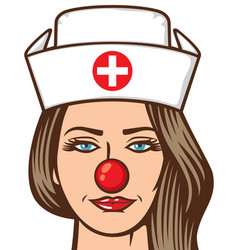 Medical nurse - red nose day vector