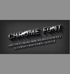 metal beveled alphabet vector image