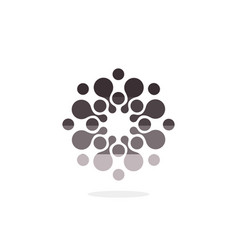 Modern logo circles round logo vector