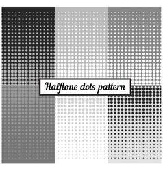 Monochrome set of halftone retro background vector image