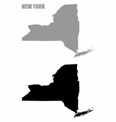 New york state silhouette maps vector
