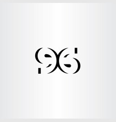 number 96 ninety six icon symbol vector image