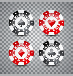 on a casino theme with color vector image vector image
