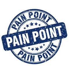 Pain point blue grunge stamp vector