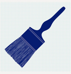 Paint brush background notebook sheet textu vector
