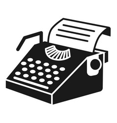 paper typewriter icon simple style vector image