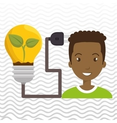 People and electricity isolated icon design vector