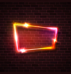 pink red yellow glowing light background on brick vector image