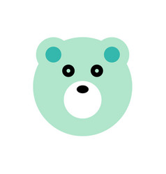 polar cartoon animal head vector image