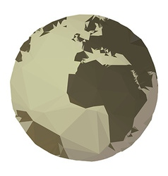 polygon earth vector image