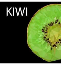 Polygonal kiwi vector