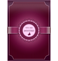 Purple abstract invitation vector image