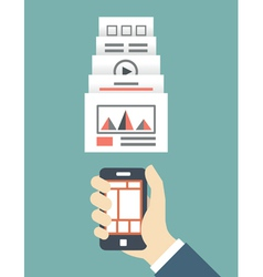 Responsive web design of mobile application vector