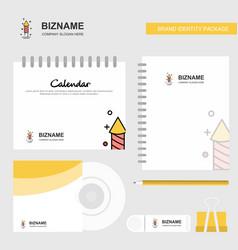 rocket logo calendar template cd cover diary and vector image
