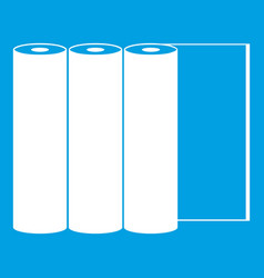 Rolls of paper icon white vector