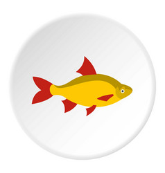 Scardinius erythrophthalmus icon circle vector