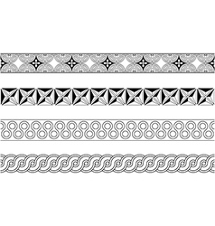 Seamless meander pattern strip vector