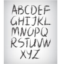 Set handwritten font vector