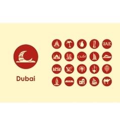 Set of Dubai simple icons vector image