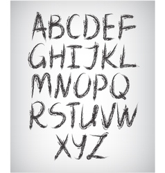 Set of handwritten font vector