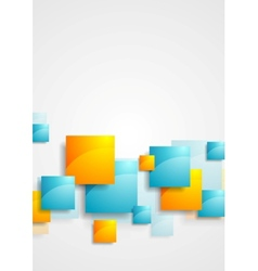 Shiny glossy squares abstract tech background vector