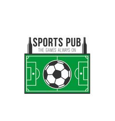 soccer sports pub football fan bar icon vector image