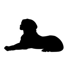 sphinx ancient national egyptian silhouette vector image