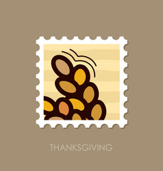 Spikelets wheat stamp harvest thanksgiving vector