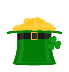 st patricks hat with gold vector image