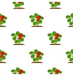 Strawberry icon cartoon single plant icon from vector